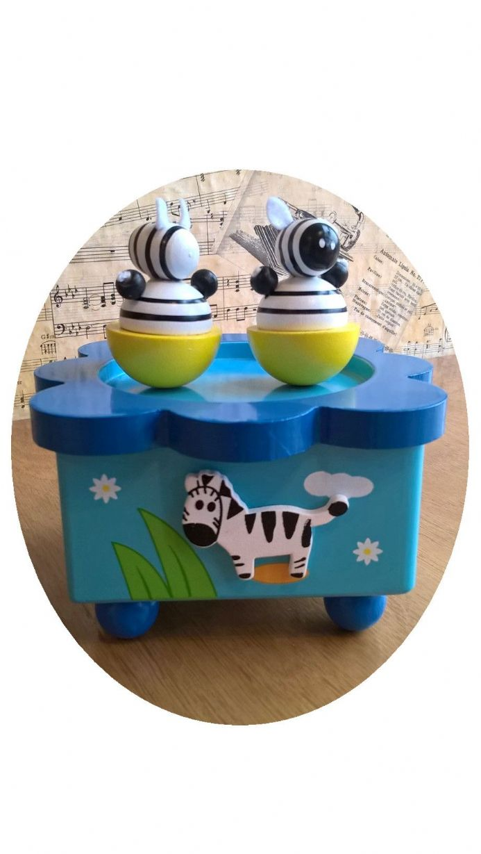 From our new range of music boxes, the Dancing Zebra Music Box
